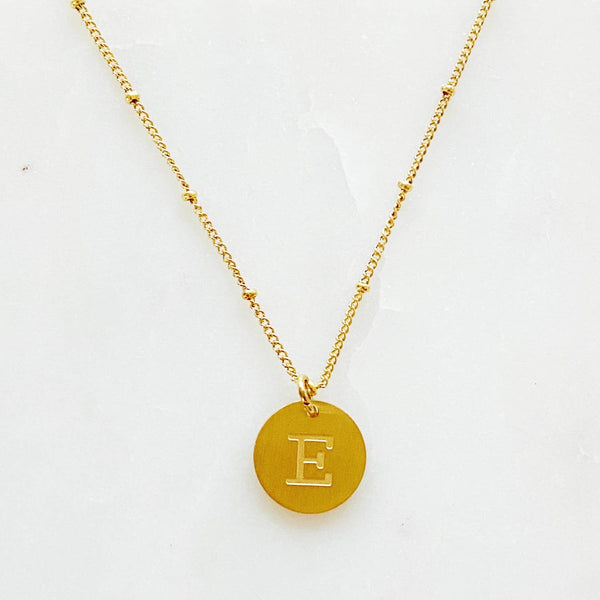 Singular Charm Initial Necklace
