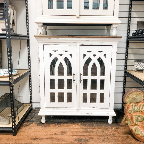 Mini Cathedral Glass Dresser Cabinet