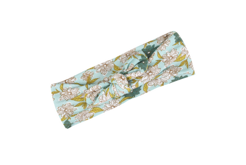 Bamboo Headband -Blue Floral