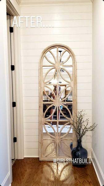Arch Wood framed mirror
