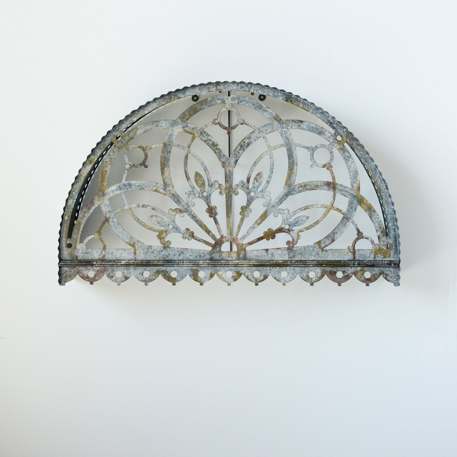Cutout Arch Metal Wall Decor Transom