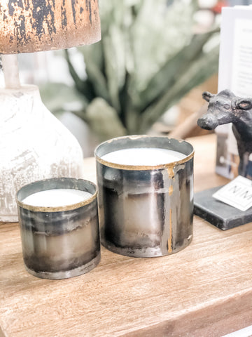 Steel City Pewter Tin Candle