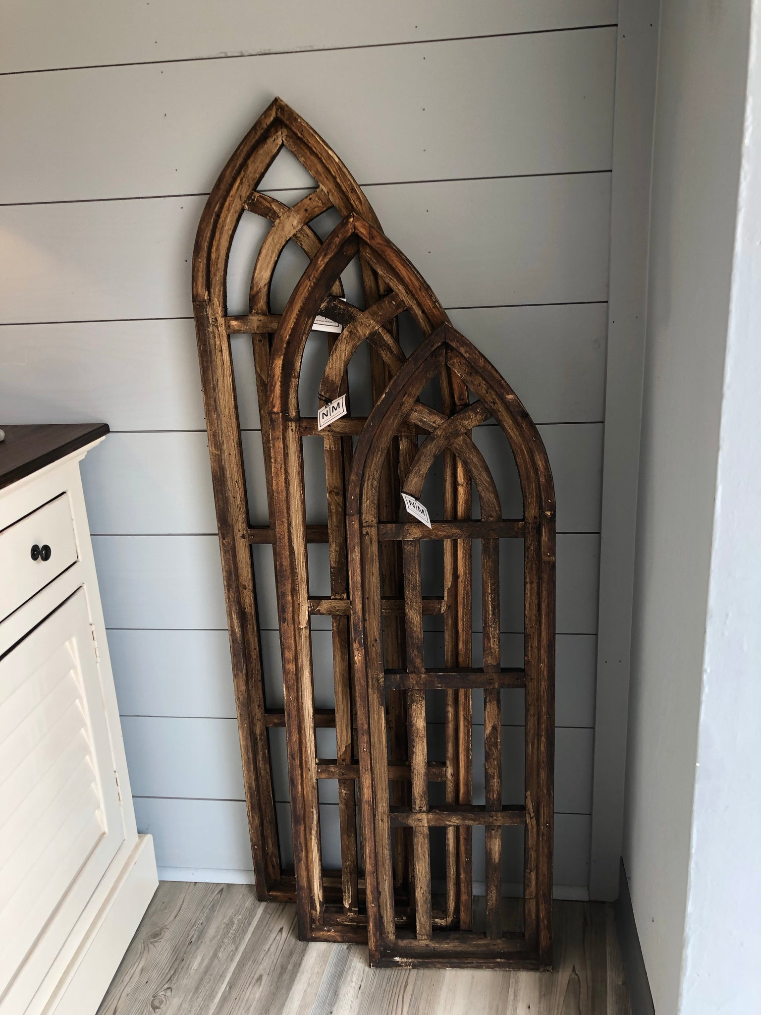 Wooden Farmhouse Arch Window | 3 sizes