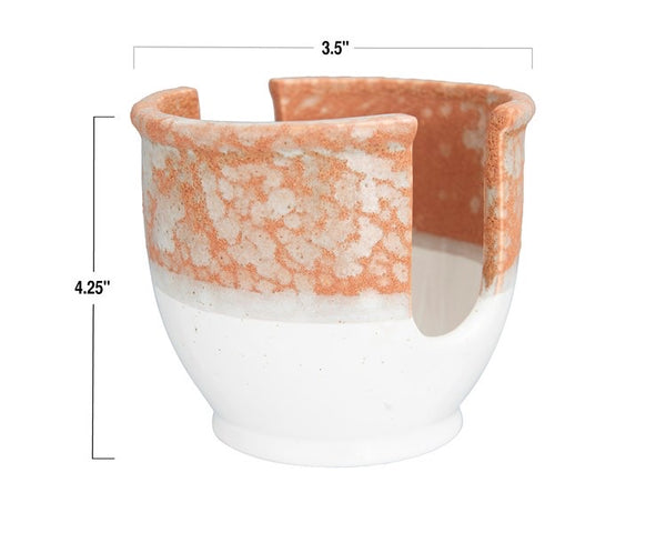 Stoneware Sponge Holder, Reactive Glaze