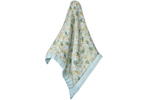 Milkbarn Baby Organic Cotton Lovey - Blue Floral