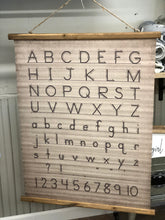 ABC Canvas and Wood Scroll