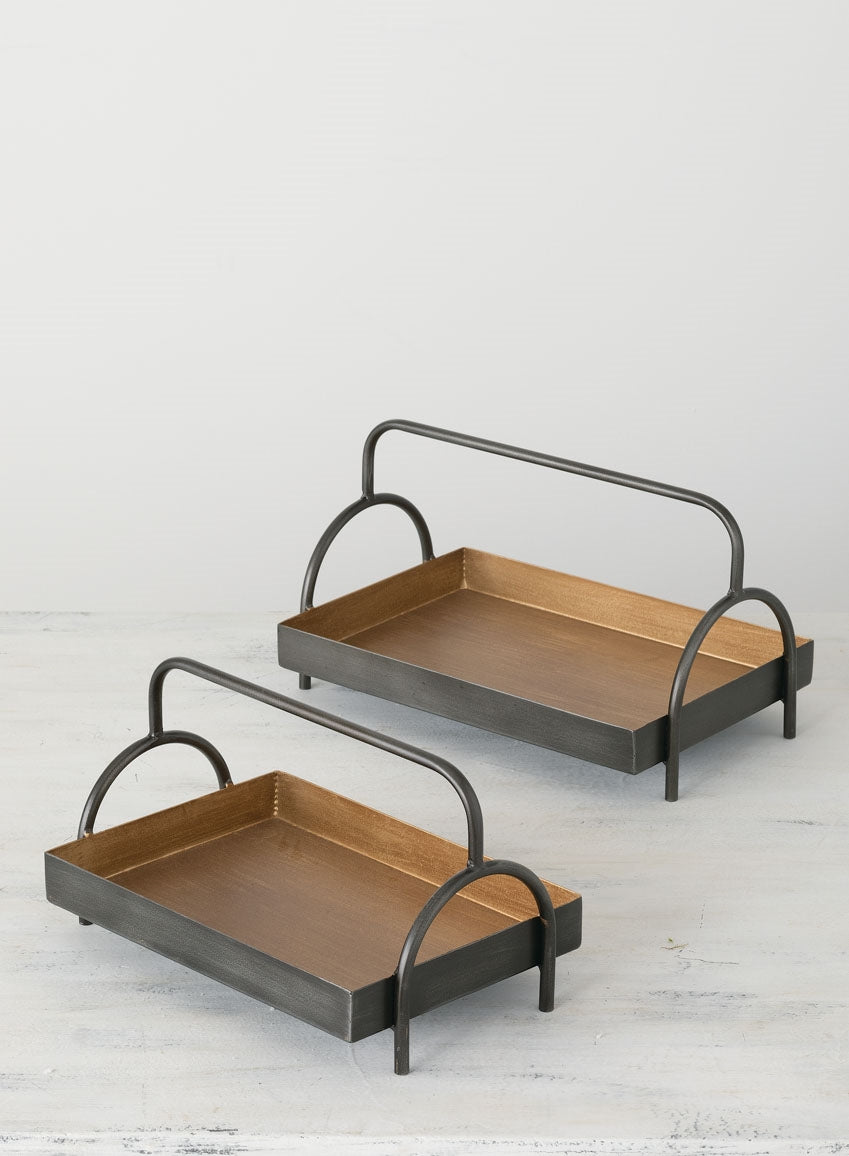 Metal Footed Tray