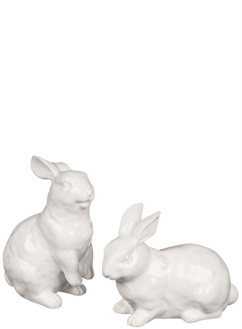 Ceramic Bunny Figurine | White