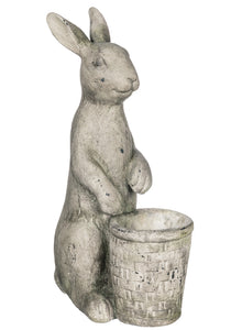 Cement Bunny Planter Pot
