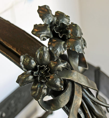 Pot Rack Flowers and Ribbon
