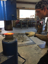 Blue Bottle Tree - Blacksmith Metal Art by Ryan Schmidt - Mitty's Metal Art