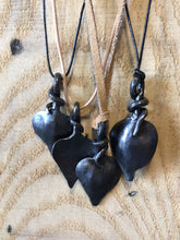 Shop Now! www.mittysmetalart.com - Metal Leaf Necklace, Blacksmith Hand-Forged Leaf, Adjustable Cord Necklace