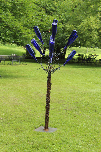 Buy Now - www.mittysmetalart.com - Blue Bottle Tree