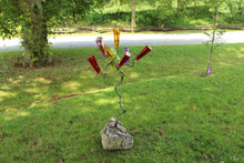 Blacksmith Metal Art by Ryan Schmidt - www.mittysmetalart.com - Colored Bottle Tree #metalart #blacksmith #bottletree