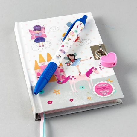 Lockable Diary with Scented Pen - Fairy Unicorn