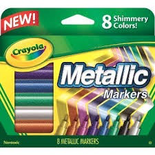 Fine Line Metalic Markers - 8ct