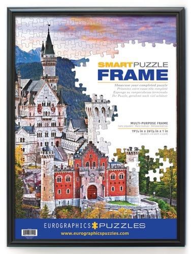 Fully Assembled Classic Wood-Look Puzzle Frame