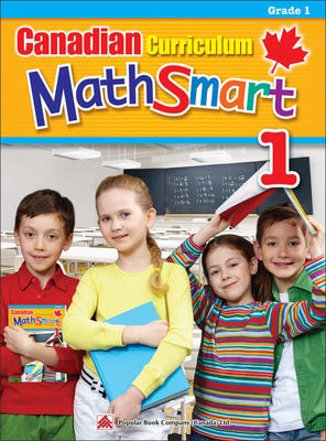 Popular Canadian Curriculum MathSmart 1: A concise Grade 1 math workbook packed with practice, explanations, and tips