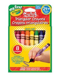 Triangular Grip Crayons - 8ct