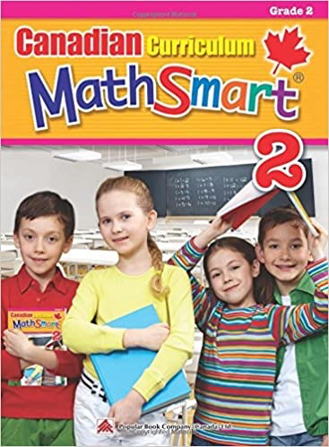 Popular Canadian Curriculum MathSmart 2: A concise Grade 2 math workbook packed with practice, explanations, and tips