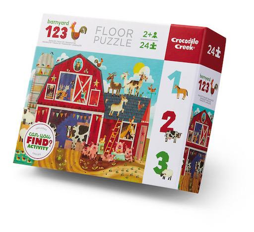 24pc Early Learning Puzzle - 123 Barnyard
