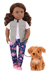 Doll Malia with dog 18""