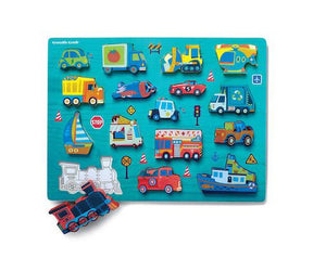Let's Play: Things That Go 16pc Wooden Puzzle