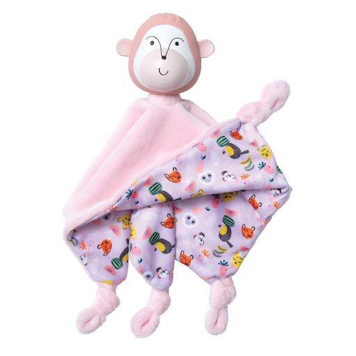 Fruity Paws Teethe & Cuddle - Momo Monkey Blankie