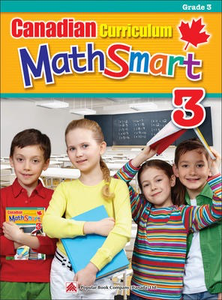 Popular Canadian Curriculum MathSmart 3: A concise Grade 3 math workbook packed with practice, explanations, and tips