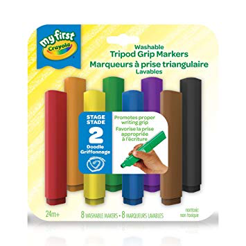 My First 8 Washable Tripod Grip Markers