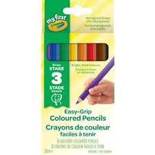 My First Easy-Grip Coloured Pencils, 8 Count