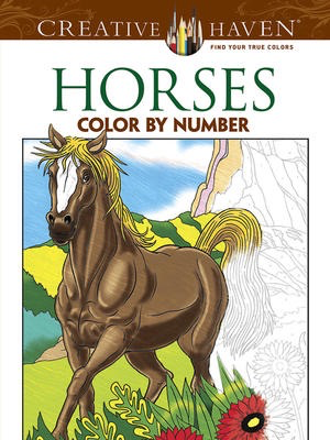 Horses Color by Number Coloring