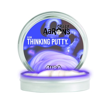 Crazy Aaron's Thinking Putty: Aura-Glow in the Dark 4""