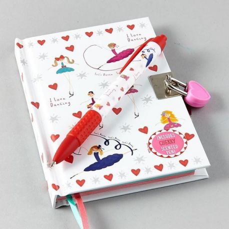 Lockable Diary with Scented Pen - Ballet