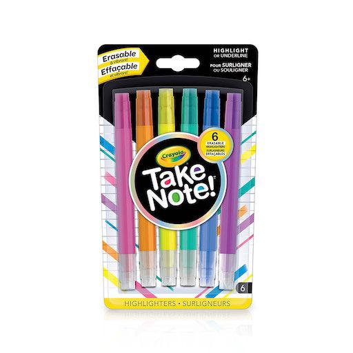 Take Note: 6 Erasable Highlighters