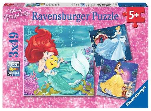 Disney Princesses Adventure 3 x 49pc