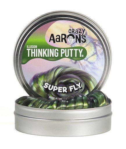 "Crazy Aaron's Thinking Putty: Super Fly, Super Illusions 2"" tin."