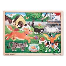Pets at Play: 24-Piece Wooden Puzzle