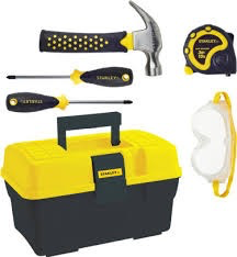 Stanley Jr. 5 Piece Tool Set and Tool Box