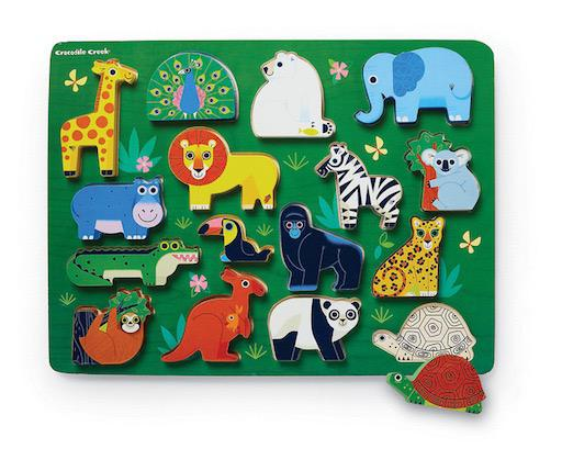 Let's Play: Zoo 16pc Wooden Puzzle