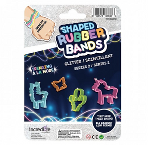 Trending Glitter S2 Shaped Rubber Bands