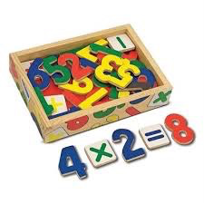Wooden Magnet Numbers