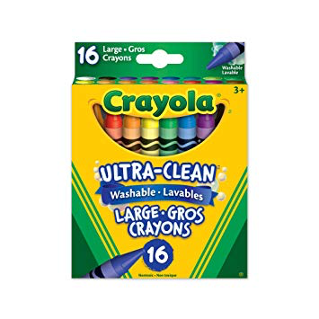 Ultra Clean Washable Large Crayons - 16ct