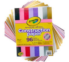96 Construction Paper with 12 Metallic Pages