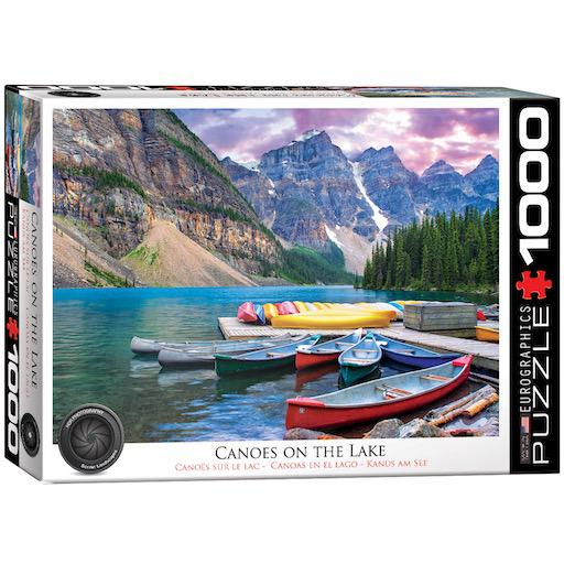 Canoes on the Lake: 1000-Piece Puzzle