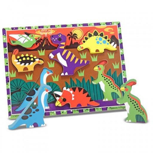 Dinosaurs: 7-Piece Wooden Chunky Puzzle