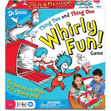 Dr. Seuss Thing Two Thing One Whirly Fun Board Game