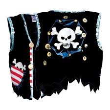Pirate Vest, Red Stripe