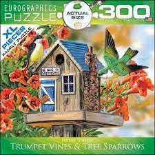 Trumpet Vines & Tree Sparrows: 300-Piece Puzzle