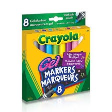 Washable Gel Markers,8 Ct